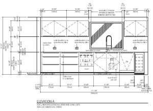 kitchen elevation drawing sample